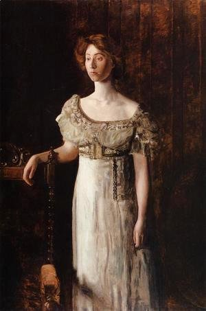 Thomas Cowperthwait Eakins - The Old Fashioned Dress-Portrait of Miss Helen Parker