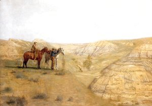 Thomas Cowperthwait Eakins - Cowboys in the Badlands