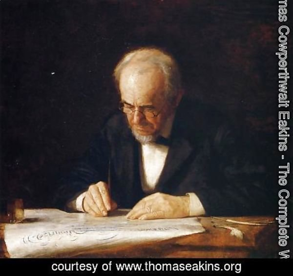 Thomas Cowperthwait Eakins - The Writing Master - Portrait of the Artist's Father