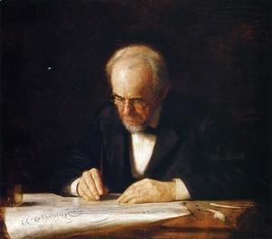 The Writing Master - Portrait of the Artist's Father
