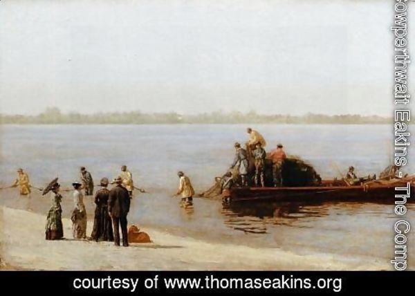 Thomas Cowperthwait Eakins - Shad Fishing at Gloucester on the Delaware River