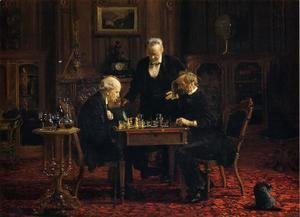 Thomas Cowperthwait Eakins - The Chess Players