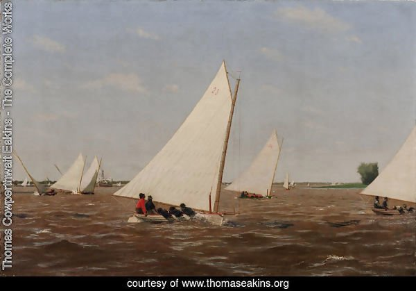 Sailboats Racing on the Delaware