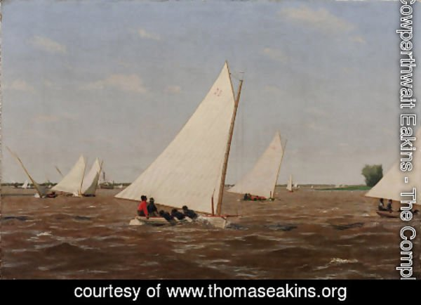 Thomas Cowperthwait Eakins - Sailboats Racing on the Delaware