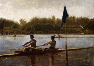 Thomas Cowperthwait Eakins - The Biglin Brothers Turning the Stake