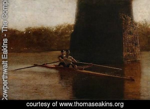 Thomas Cowperthwait Eakins - The Pair-Oared Scull