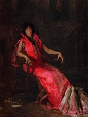 Thomas Cowperthwait Eakins - An Actress (or Portrait of Suzanne Santje)