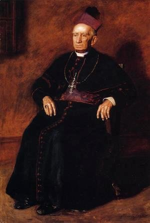 Thomas Cowperthwait Eakins - Portrait of Archbishop William Henry Elder