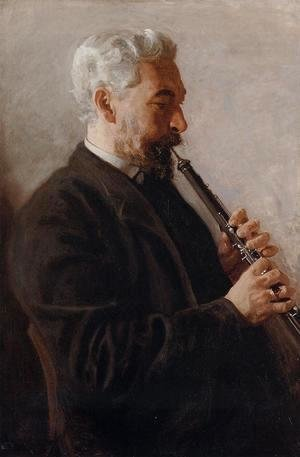 Thomas Cowperthwait Eakins - The Oboe Player (or Portrait of Benjamin Sharp)