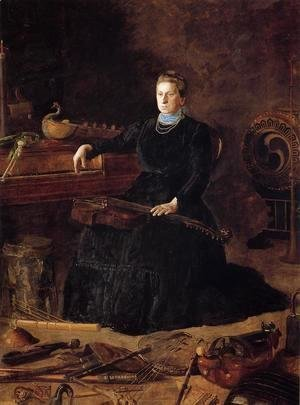 Thomas Cowperthwait Eakins - Antiquated Music (or Portrait of Sarah Sagehorn Frishmuth)