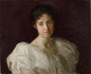 Thomas Cowperthwait Eakins - Portrait of Lucy Lewis