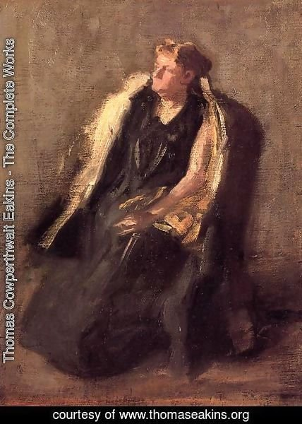 Thomas Cowperthwait Eakins - Portrait of Mrs. Hubbard (sketch)