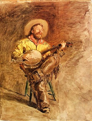Thomas Cowperthwait Eakins - Cowboy Singing