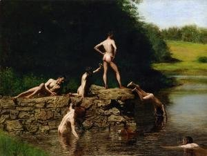 Thomas Cowperthwait Eakins - Swimming