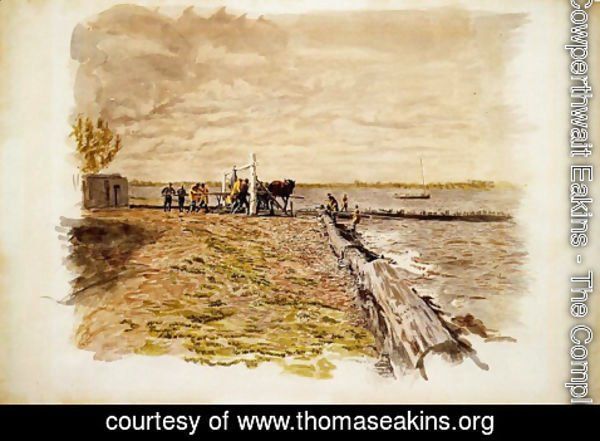 Thomas Cowperthwait Eakins - Drawing the Seine