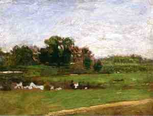 "Thomas Cowperthwait Eakins - Study for ""The Meadows, Gloucester, New Jersey"""