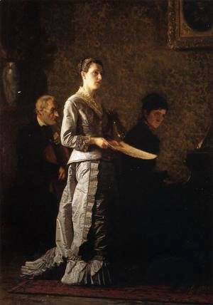 Thomas Cowperthwait Eakins - Singing a Pathetic Song