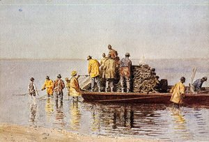 Thomas Cowperthwait Eakins - Taking up the Net