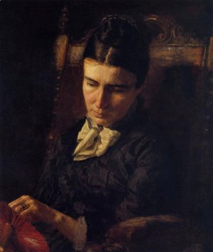 Thomas Cowperthwait Eakins - Portrait of Sarah Ward Brinton