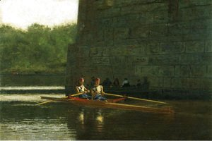 Thomas Cowperthwait Eakins - The Oarsmen (or The Schreiber Brothers)