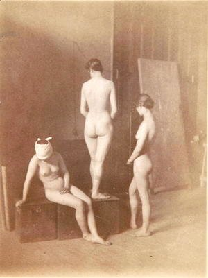 Thomas Cowperthwait Eakins - Three Female Nudes, c.1883