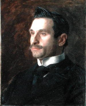 Thomas Cowperthwait Eakins - Portrait of Francesco Romano