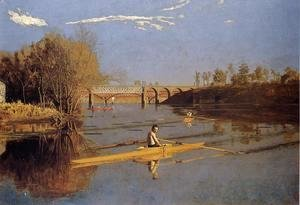 Thomas Cowperthwait Eakins - Max Schmitt in a Single Scull, 1871