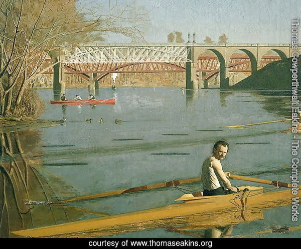 Max Schmitt in a Single Scull, 1871 (detail-2)
