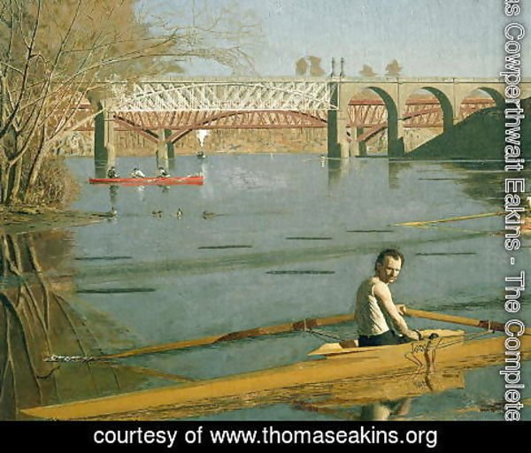 Thomas Cowperthwait Eakins - Max Schmitt in a Single Scull, 1871 (detail-2)