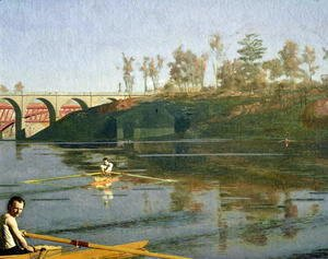 Thomas Cowperthwait Eakins - Max Schmitt in a Single Scull, 1871 (detail-1)