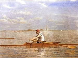 Thomas Cowperthwait Eakins - John Biglin in a Single Scull I