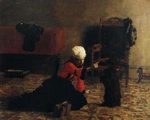 Thomas Cowperthwait Eakins - Elizabeth Crowell with a Dog