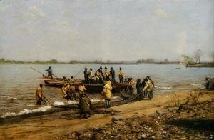 Thomas Cowperthwait Eakins - Shad Fishing at Gloucester on the Delaware River 2