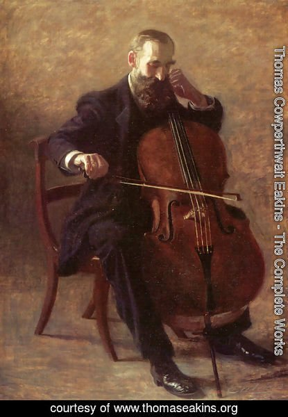 Thomas Cowperthwait Eakins - The Cello Player