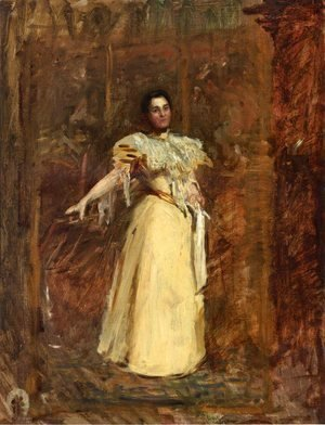 Thomas Cowperthwait Eakins - Portrait of Miss Emily Sartain, Study