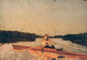 Thomas Cowperthwait Eakins - Max Schmitt in a Single Scull (sketch)