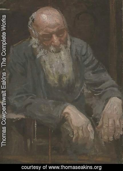 Thomas Cowperthwait Eakins - A Study of an Old Man