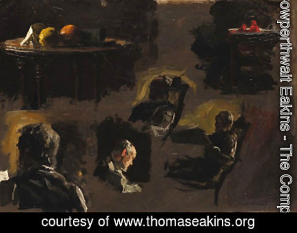 Thomas Cowperthwait Eakins - Group of Sketches Eakins' Father, Table with Oranges