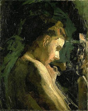 Thomas Cowperthwait Eakins - Study of a Girl's Head