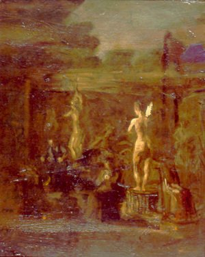 Thomas Cowperthwait Eakins - Compositional Study for William Rush Carving His Allegorical Figure of the Schuylkill River