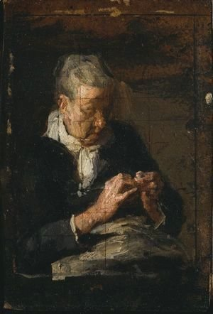 Thomas Cowperthwait Eakins - Woman Knitting