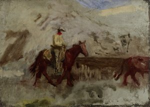 Thomas Cowperthwait Eakins - Sketch for Cowboys in the Badlands 2