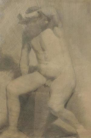 Thomas Cowperthwait Eakins - Nude Man Seated
