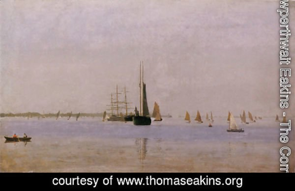 Thomas Cowperthwait Eakins - Ships and Sailboats on the Delaware