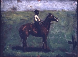 Thomas Cowperthwait Eakins - Negro boy on a bay horse