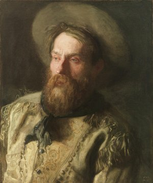 Thomas Cowperthwait Eakins - Head of a Cowboy