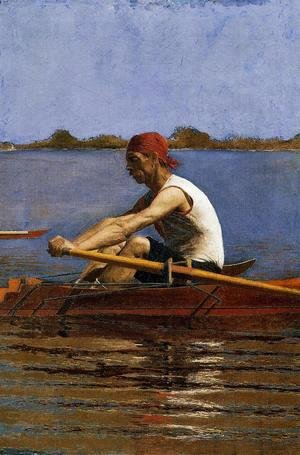 Thomas Cowperthwait Eakins - John Biglin in a Single Scull