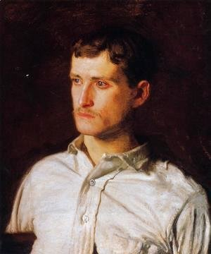 Thomas Cowperthwait Eakins - Portrait of Douglas Morgan Hall 1889