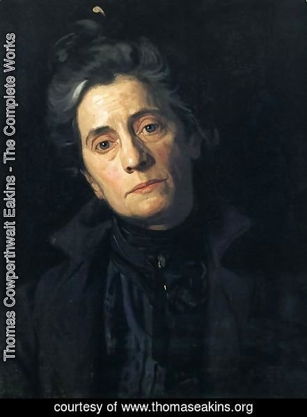 Thomas Cowperthwait Eakins - Portrait of Susan Macdowell Eakins (The Wife of the Artist) 1900