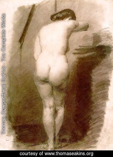 Thomas Cowperthwait Eakins - Study of a Standing Nude Woman